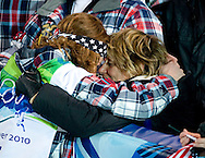 USA's Shaun White celebrates with his mother Cathy after winning the gold medal in the men's halfpipe competition Wednesday.