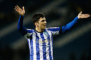 Fernando Forestieri of Sheffield Wednesday waves to fans after  the EFL Sky Bet Championship match between Sheffield Wednesday and Stoke City at Hillsborough, Sheffield, England on 22 October 2019.