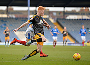 Cambridge United Defender Ryan Haynes beats Portsmouth striker Conor Chaplin top the ball during the Sky Bet League 2 match between Portsmouth and Cambridge United at Fratton Park, Portsmouth, England on 27 February 2016. Photo by Adam Rivers.