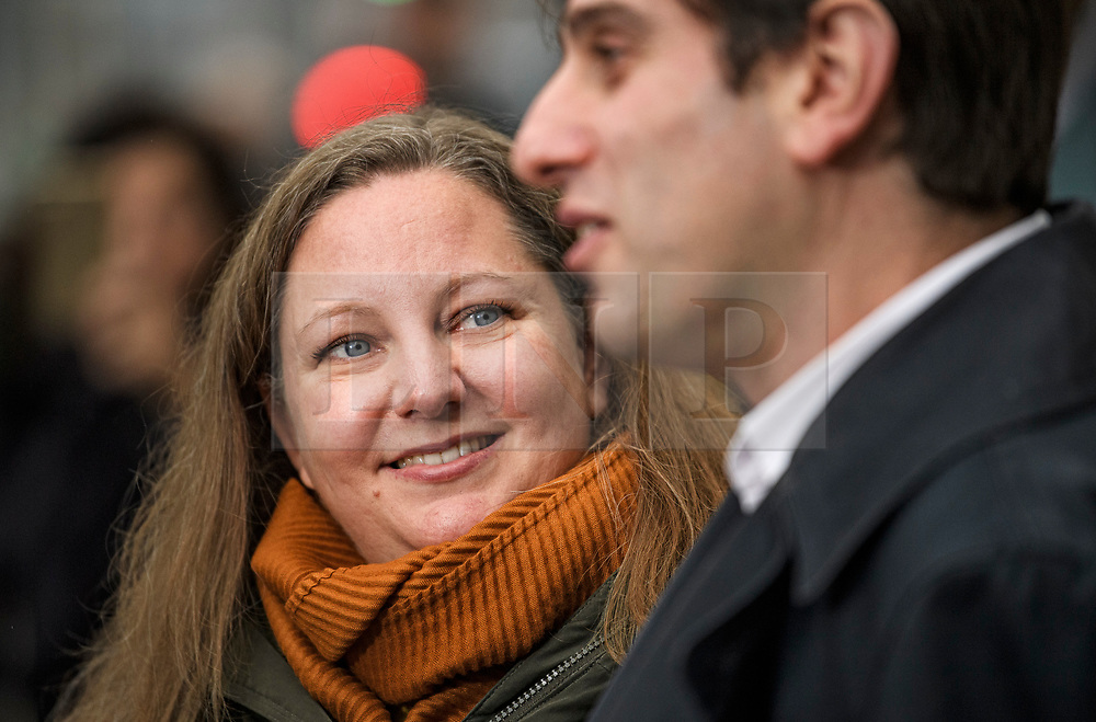 © Licensed to London News Pictures. 31/12/2019. London, UK. Rebecca Steinfeld and Charles Keidan Leave Kensington and Chelsea registry office following a mixed sex union ceremony. The couple took their fight to the Supreme Court to allow civil partnerships between heterosexual couples. Photo credit: Ben Cawthra/LNP