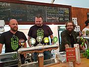 Klostergården bryggeri fra Tautra på Frosta, Nord-Trøndelag. Bryggerifestivalen i forbindelse med mattmessa og Olavsfestdagene 2018, Trondheim. (mobilbilde)