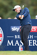 Francesco Molinari of Italy tees off during the British Masters 2018 at Walton Heath Golf Course, Walton On the Hill, Surrey  on 11 October 2018. Picture by Martin Cole.