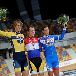 20141228- NK baan: baanwielrennen; Apeldoorn: huldigingen: podium; Nationale tricot