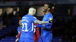 Ivan Toney of Peterborough United celebrates scoring the equalisng goal with Marcus Maddison - Mandatory by-line: Joe Dent/JMP - 22/12/2018 - FOOTBALL - ABAX Stadium - Peterborough, England - Peterborough United v Walsall - Sky Bet League One