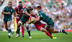 Alex Lewington of London Irish tackles Danny Care of Harlequins - Mandatory by-line: Alex James/JMP - 02/09/2017 - RUGBY - Twickenham Stadium - London, England - London Irish v Harlequins - Aviva Premiership
