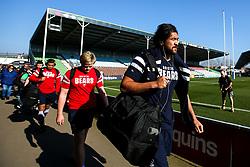 Steve Luatua of Bristol Bears arrives at Harlequins - Mandatory by-line: Robbie Stephenson/JMP - 23/02/2019 - RUGBY - Twickenham Stoop - London, England - Harlequins v Bristol Bears - Gallagher Premiership Rugby