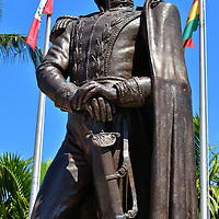 Sim&oacute;n Bol&iacute;var Statue at Bayfront Park in Miami, Florida<br />