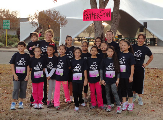 For the third consecutive year, female students at Patterson Elementary participated in the Girls on the Run 5K. Sponsored by teachers on campus, 20 students in third through fifth grades joined 500 girls from all over Houston at Cy-Fair's Bear Creek Park to finish the race. Girls on the Run is a national association that educates female students in the areas of health and self esteem.<br />