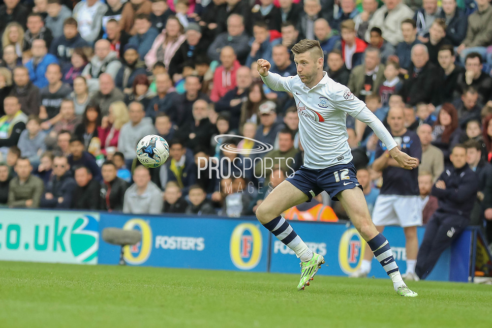 Paul Gallagher during the Sky Bet League 1 Play Off Second Leg match between Preston North End and Chesterfield at Deepdale, Preston, England on 10 May 2015. Photo by Simon Davies.