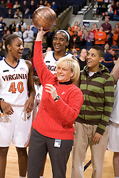 Virginia head coach Debbie Ryan was honored after the game with Clemson for her upcoming induction into the Women's Basketball Hall of Fame.  The Virginia Cavaliers women's basketball team defeated the Clemson Tigers 83-71 at the John Paul Jones Arena in Charlottesville, VA on February 21, 2008.