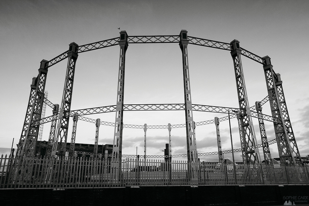 Empty gas wharf in Fulham, south-west London.
