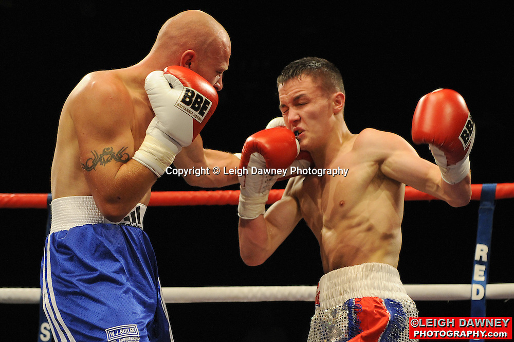 Josh Warrington defeats John Riley at Huddersfield Leisure Centre on 28th May 2010. Frank Maloney Promotions. Photo credit: © Leigh Dawney