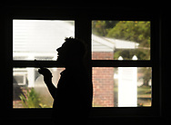 Home inspector Frank Castiglione of Real Estate Inspections, looks at a home for possible problems Thursday, September 28, 2017 in Plymouth Meeting, Pennsylvania. (WILLIAM THOMAS CAIN / For The Philadelphia Inquirer)