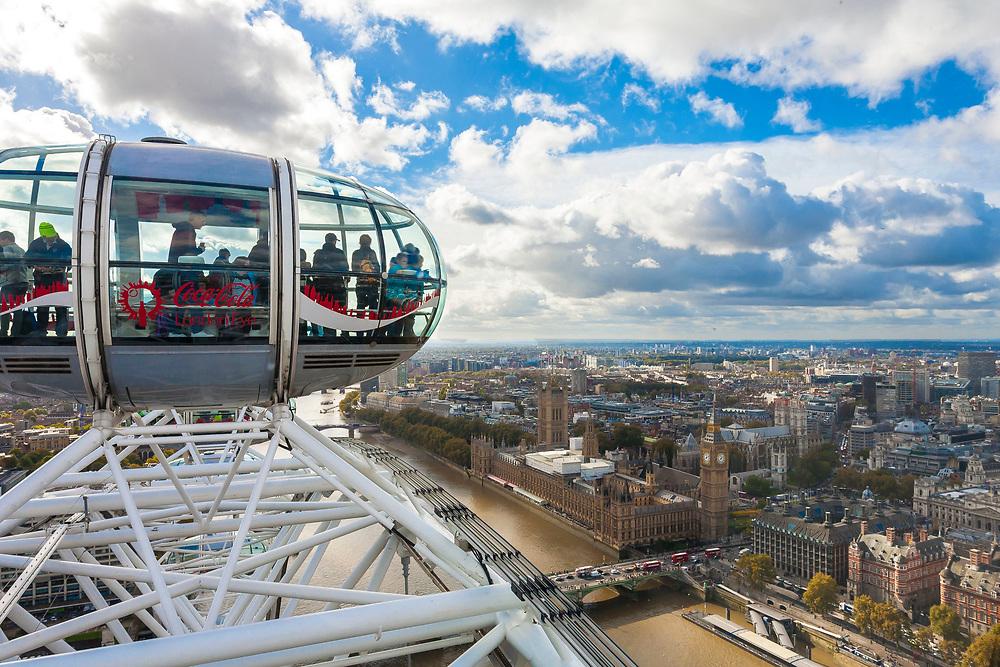 2016, Europe, London, UK, cityscape, travel, England, London Eye, cityscape, double decker, bus, city, sky, people, tourism