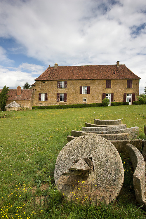 Traditional French farmhouse at Hautefort near Perigeux in the Dordogne, France