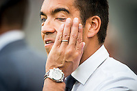 EINDHOVEN - PSV - Feyenoord , Voetbal , Seizoen 2015/2016 , Eredivisie , Philips Stadion , 30-08-2015 , Feyenoord trainer Giovanni van Bronckhorst teleurgesteld