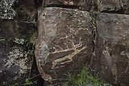 Mongolia. petroglyphs of bronze age  in Baatar Qairqan  near Khovd