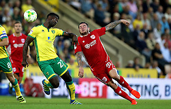 Lee Tomlin of Bristol City goes past Alexander Tettey of Norwich City - Mandatory by-line: Robbie Stephenson/JMP - 16/08/2016 - FOOTBALL - Carrow Road - Norwich, England - Norwich City v Bristol City - Sky Bet Championship