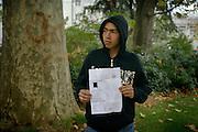 """[English]  The """"Taskera"""" is an Afghan identity document. It is more and more used by judges of children affairs to be sure about their minority before placing them in a foster home.<br /> <br /> [Francais]  Ali-Reza, 15 ans, presente sa taskera..Ce document d'identite afghan est de plus en plus utilise par le juge des enfants pour determiner leur age et accorder une prise en charge par l'Aide Sociale a l'Enfance.  Les expertises d'âge, basees sur des examens osseux inadaptes, presentent une incertitude d'environ 18 mois pour les jeunes de 16 a 18 ans.  Le Code Civil stipule par ailleurs que les documents d'etat civil etablis a l'etranger font l'objet d'une presomption d'authenticite..La taskera n'assure cependant pas forcement une mise a l'abri, premiere etape necessaire a la prise en charge, faute de place dans ce dispositif."""