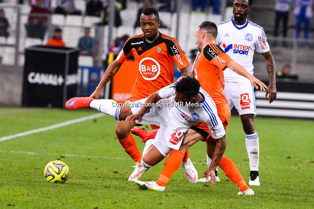 Jordan AYEW / Mario LEMINA - 24.04.2015 - Marseille / Lorient - 34eme journee de Ligue 1<br />Photo : Gaston Petrelli / Icon Sport