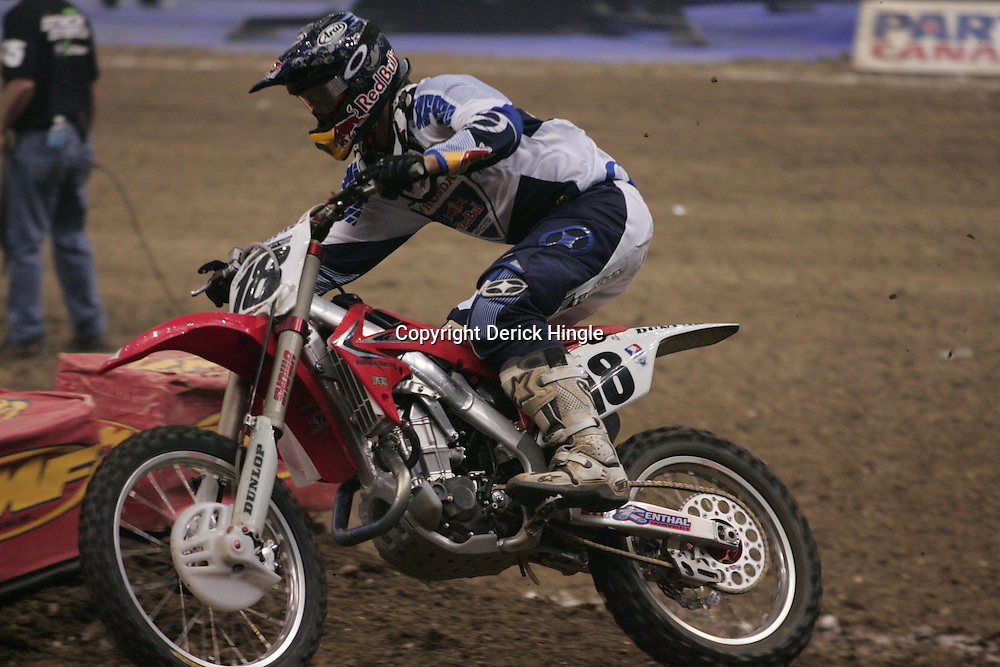 14 March 2009: David Millsaps (18) races during the Monster Energy AMA Supercross race at the Louisiana Superdome in New Orleans, Louisiana