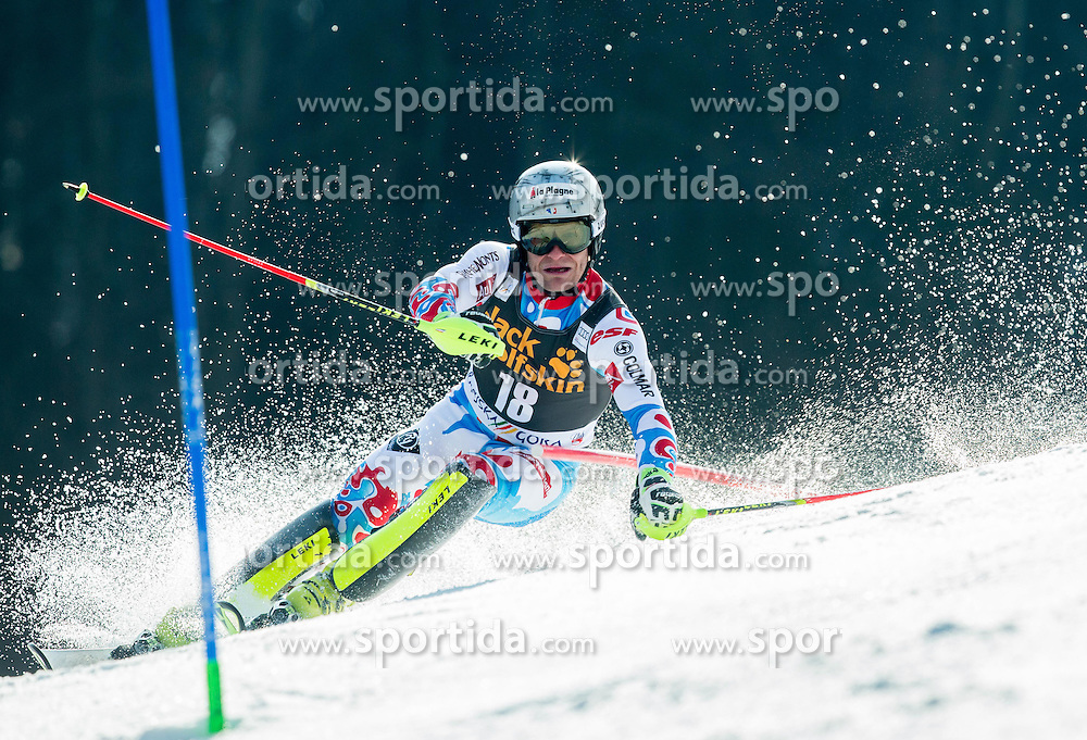 LIZEROUX Julien of France competes during 1st Run of Men Slalom race of FIS Alpine Ski World Cup 54th Vitranc Cup 2015, on March 15, 2015 in Kranjska Gora, Slovenia. Photo by Vid Ponikvar / Sportida