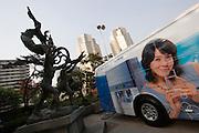 Jamsil. Water dispenser promo bus.