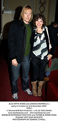 Actor RHYS IFANS and JESSICA MORRIS at a party in London on 3rd November 2003.<br /> POD 1