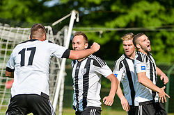 Matic Marusko and other players of ND Mura celebrates  during football match between ND Mura and ND Tabor Sezana in Round #28 of 2.SNL 2017/18 on May 13, 2018 in Mestni stadion Fazanerija , Murska Sobota , Slovenia. Photo by Mario Horvat / Sportida