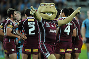 May 25th 2011: Maroons Mascot on the field after game 1 of the 2011 State of Origin series at Suncorp Stadium in Brisbane, Australia on May 25, 2011. Photo by Matt Roberts/mattrIMAGES.com.au / QRL