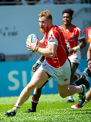 May 19, 2018 - Hong Kong, Hong Kong, China - Right flanker Edward Quirk runs with the ball.Japanese team Sunwolves win 26-23 over South Africa's Stormers in Rugby Super League's Hong Kong debut. Mong Kok Stadium, Hong Kong . Photo Jayne Russell (Credit Image: © Jayne Russell via ZUMA Wire)