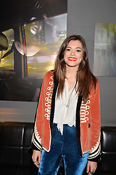 Iraira Mancini at an exhibition of photographs by Erica Bergsmeds held at The Den, 100 Wardour Street, London England. 19 January 2017.