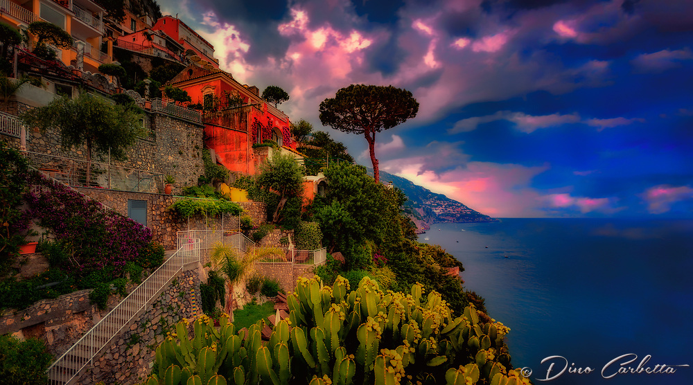 """Evening view from the deck of Hotel California Positano""…<br />