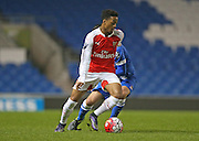 Arsenal U21 striker Chris Willock during the Barclays U21 Premier League match between Brighton U21 and Arsenal U21 at the American Express Community Stadium, Brighton and Hove, England on 1 December 2015.
