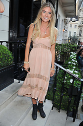 GEORGIE WRIGHT at the launch of Hideaways House at Morton's Club, Berkeley Square, London on 25th July 2012.