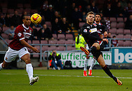 Picture by David Horn/Focus Images Ltd +44 7545 970036<br /> 16/11/2013<br /> David Ball of Fleetwood Town shoots during the Sky Bet League 2 match at Sixfields Stadium, Northampton.
