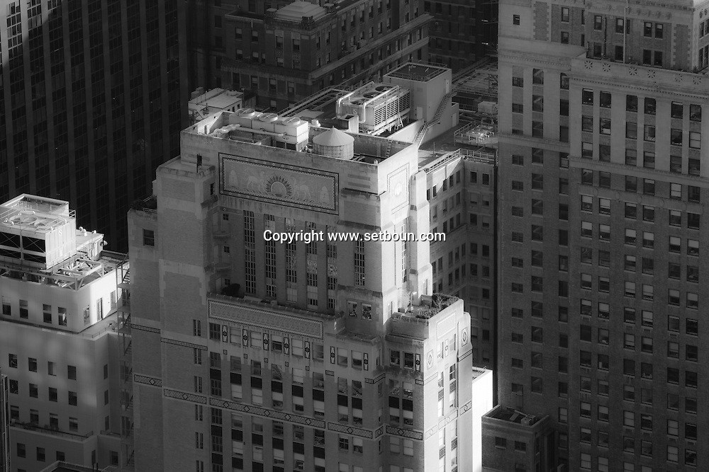 New York elevated view of Midtown building. / New York vue aerienne de midtown