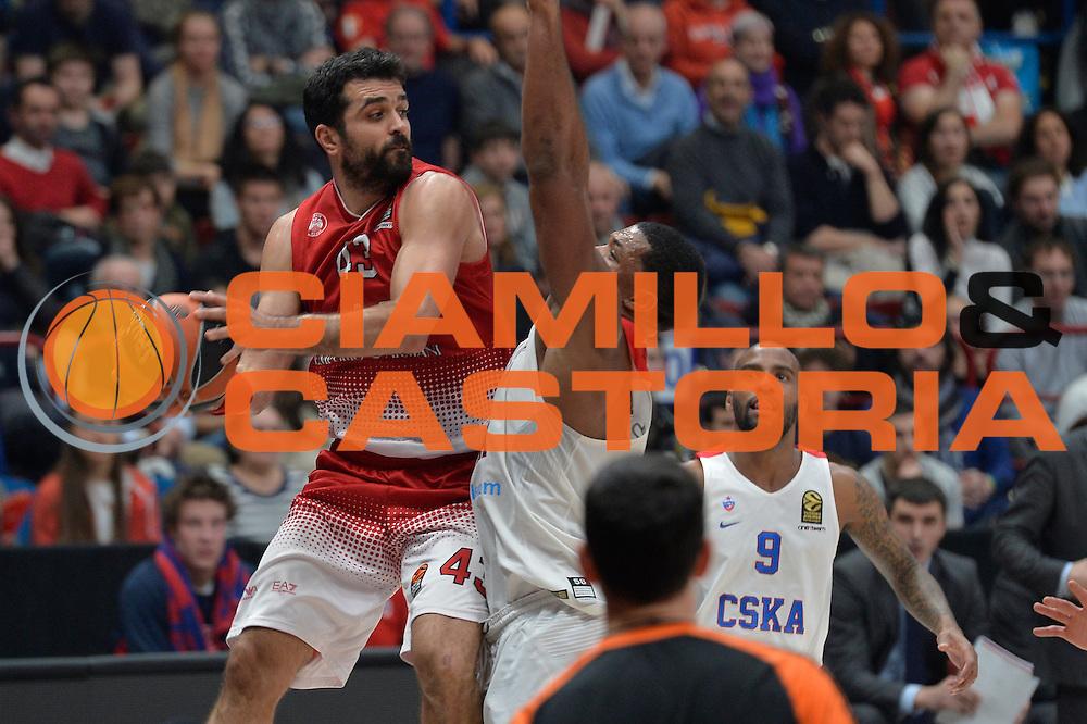 Simon Krunoslav<br /> Olimpia EA7 Emporio Armani Milano vs Cska Moscow<br /> Euroleague 2016/2017<br /> Milano 08/12/2016<br /> Foto Ciamillo-Castoria