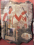 Tomb paintings Metchetchi to 2350 BC (early 6th dynasty) at Saqqara? Mud plaster and painted