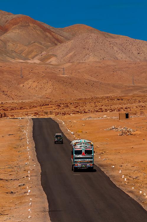 National Highway 1 (Srinagar-Leh Highway), Ladakh, Jammu and Kashmir State, India.