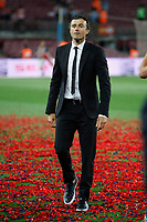 Barcelona´s coach Luis Enrique celebrates after winning the 2014-15 Copa del Rey final match against Athletic de Bilbao at Camp Nou stadium in Barcelona, Spain. May 30, 2015. (ALTERPHOTOS/Victor Blanco)