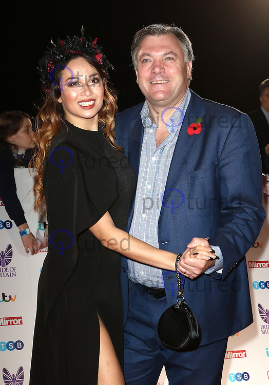 Katya Jones, Ed Balls, Pride of Britain Awards, The Grosvenor House Hotel, London UK, 31 October 2016, Photo by Richard Goldschmidt
