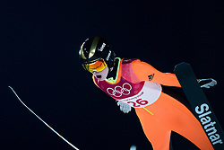 February 12, 2018 - Pyeongchang, SOUTH KOREA - 180212 Nika Kriznar of Slovenia competes in Ski Jumping, Women's Normal Hill Individual Final, during day three of the 2018 Winter Olympics on February 12, 2018 in Pyeongchang..Photo: Joel Marklund / BILDBYRN / kod JM / 87619 (Credit Image: © Joel Marklund/Bildbyran via ZUMA Press)