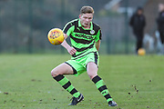 Forest Green Rovers Alex Hallett on the ball during the The Central League match between Cheltenham Town Reserves and Forest Green Rovers Reserves at The Energy Check Training Ground, Cheltenham, United Kingdom on 28 November 2017. Photo by Shane Healey.