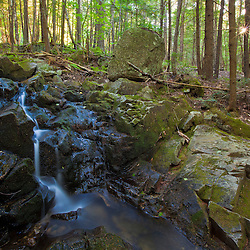 A small waterfall on the lower slopes of Black Mountain in Sutton, New Hampshire.