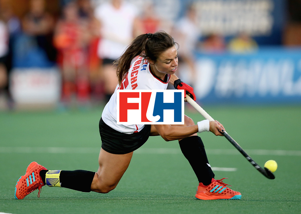 JOHANNESBURG, SOUTH AFRICA - JULY 10: Marlena Rybacha of Poland in action during day 2 of the FIH Hockey World League Semi Finals Pool A match between England and Poland at Wits University on July 10, 2017 in Johannesburg, South Africa. (Photo by Jan Kruger/Getty Images for FIH)