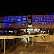 Gam Galleria di Arte Moderna<br /> Torino in blu per la Settimana Europea della Cultura<br /> a Torino(dal 23 al 28 settembre 2014)<br /> i principali monumenti e musei della città illuminati di blu<br /> da Iren Servizi e Innovazione, la Società <br /> del Gruppo Iren che in città gestisce 99.000 punti luce, <br /> alimentati da una rete elettrica di 2.900 chilometri.