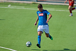 NAPLES, ITALY - Tuesday, September 17, 2019: SSC Napoli's substitute Raffaele Virgilio during the UEFA Youth League Group E match between SSC Napoli and Liverpool FC at Stadio Comunale di Frattamaggiore. (Pic by David Rawcliffe/Propaganda)