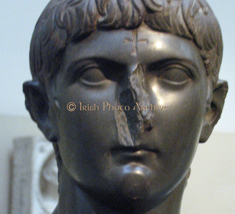 Marble head of Germanicus