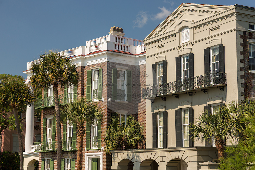 The William Ravenel and William Roper Houses on East Battery in historic Charleston, SC.